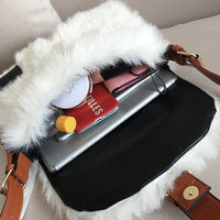 Plush Wide Crossbody Bag