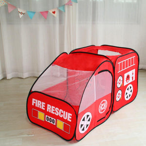 Fire Engine Design Folding Portable Playpen Tent