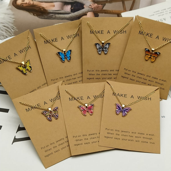 Korean Fashion Cute Butterfly Pendant