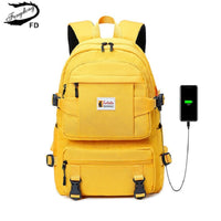 Fengdong fashion yellow backpack