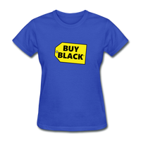 Women's Buy Black T-Shirt - royal blue