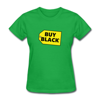 Women's Buy Black T-Shirt - bright green
