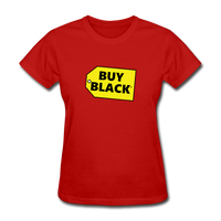 Women's Buy Black T-Shirt - red