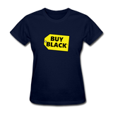 Women's Buy Black T-Shirt - navy