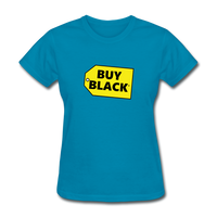 Women's Buy Black T-Shirt - turquoise