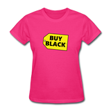 Women's Buy Black T-Shirt - fuchsia