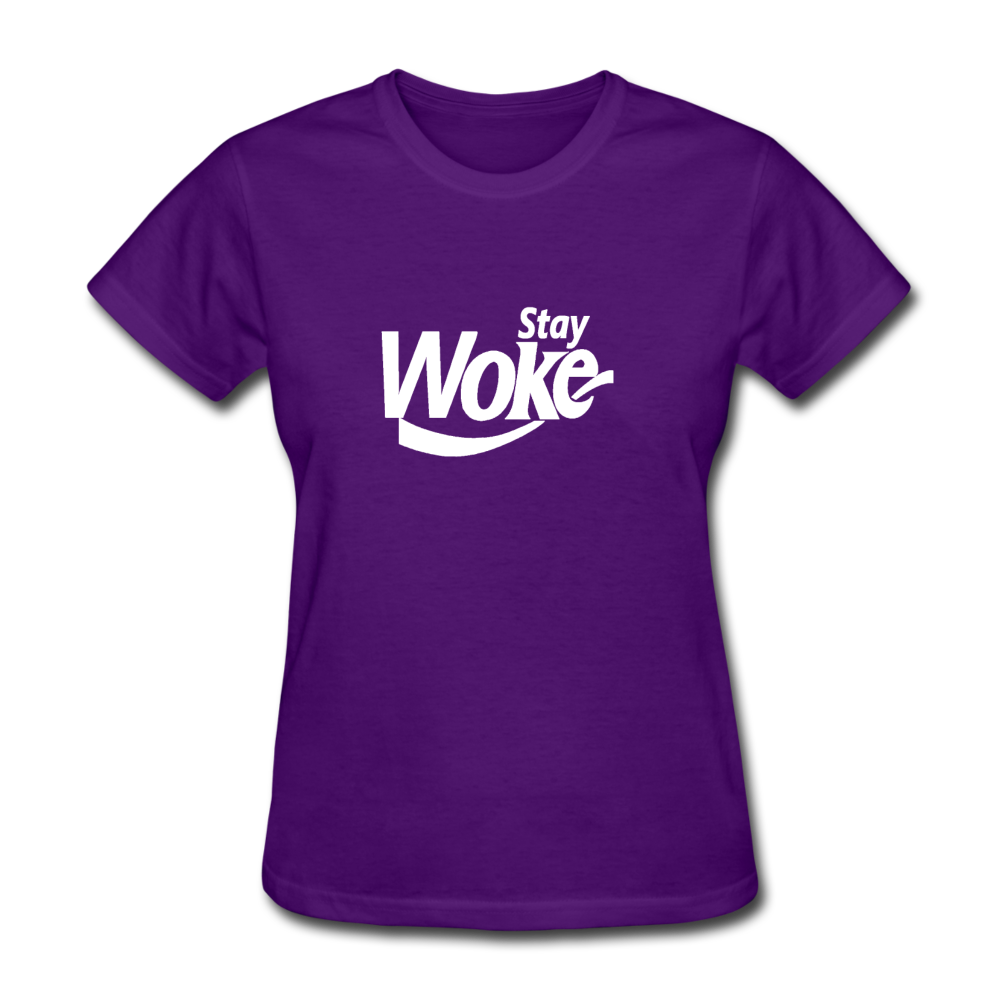 Women's Stay Woke T-Shirt - purple