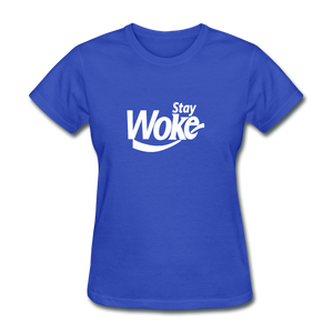 Women's Stay Woke T-Shirt - royal blue