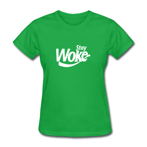 Women's Stay Woke T-Shirt - bright green