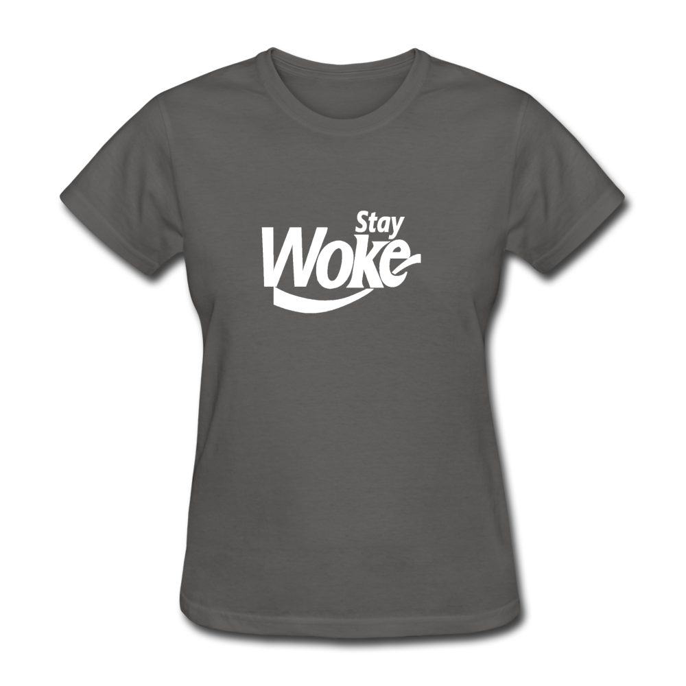 Women's Stay Woke T-Shirt - charcoal