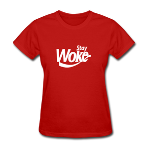 Women's Stay Woke T-Shirt - red