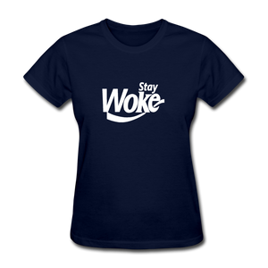 Women's Stay Woke T-Shirt - navy