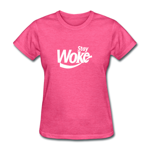 Women's Stay Woke T-Shirt - heather pink