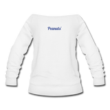 Drama Queen Women's Wideneck Sweatshirt - white