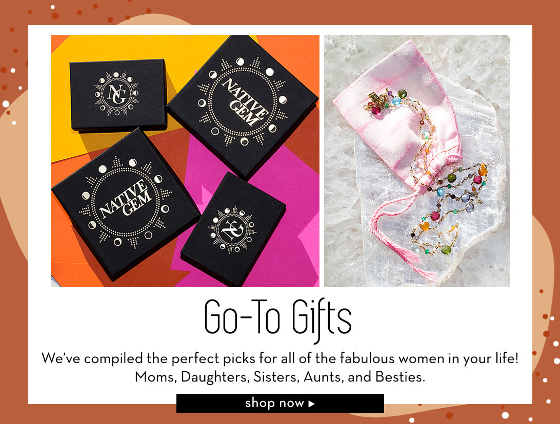 go to gifts at nativegemjewelry.com