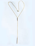 bar diamond Y necklace