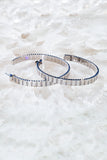 FLASH HOOP earrings in Sterling Silver