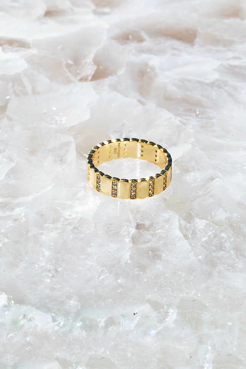 FLASH ring in 14K gold vermeil