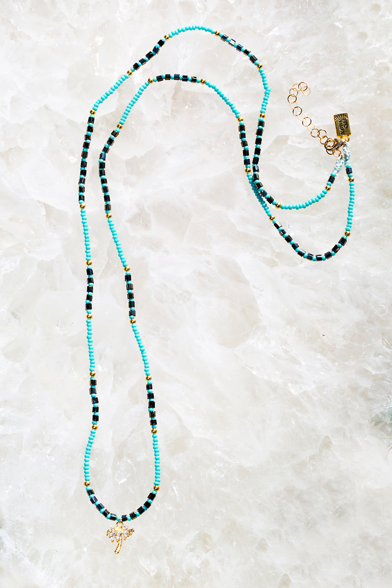 REINA PALM turquoise necklace