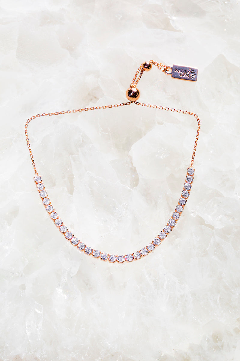 SHIMMER bracelet in 14K rose gold vermeil