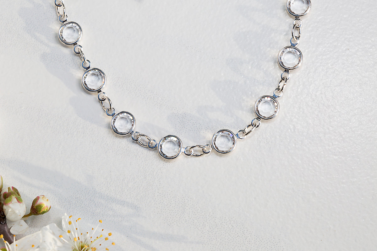 BRILLIANCE choker in sterling silver