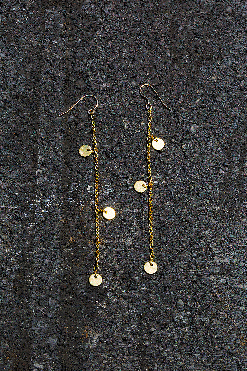draping coin earrings