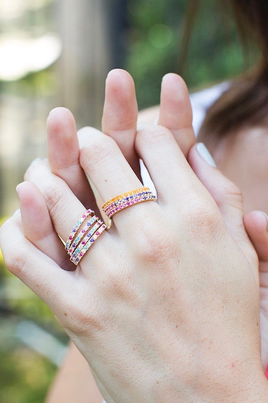 stacked eternity bands