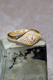 EVIL EYE ring in 14K vermeil