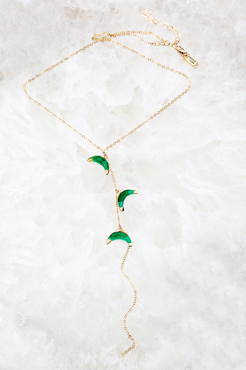 delicate crescent necklace