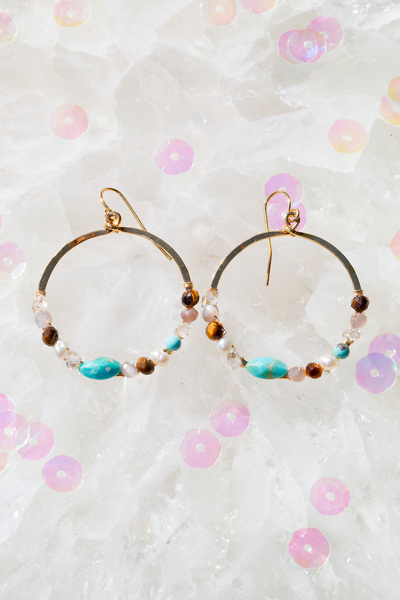 FAIRYDUST sedona circle earrings