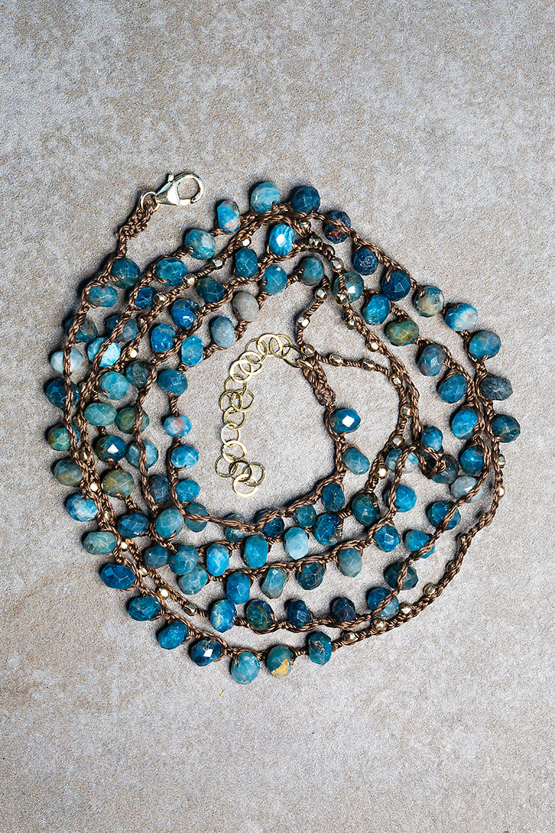 Apatite handcrochet necklace