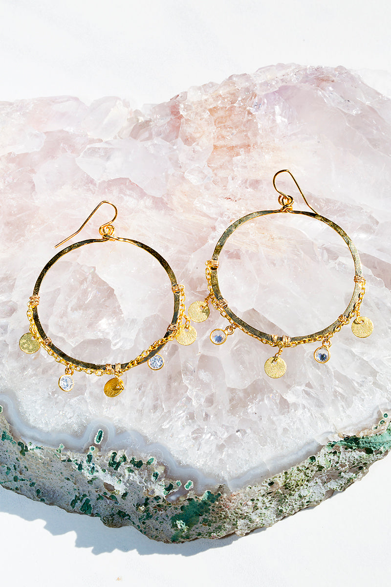 coin and diamond hoop