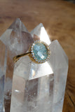 Gray Blue Raw Diamond Ring