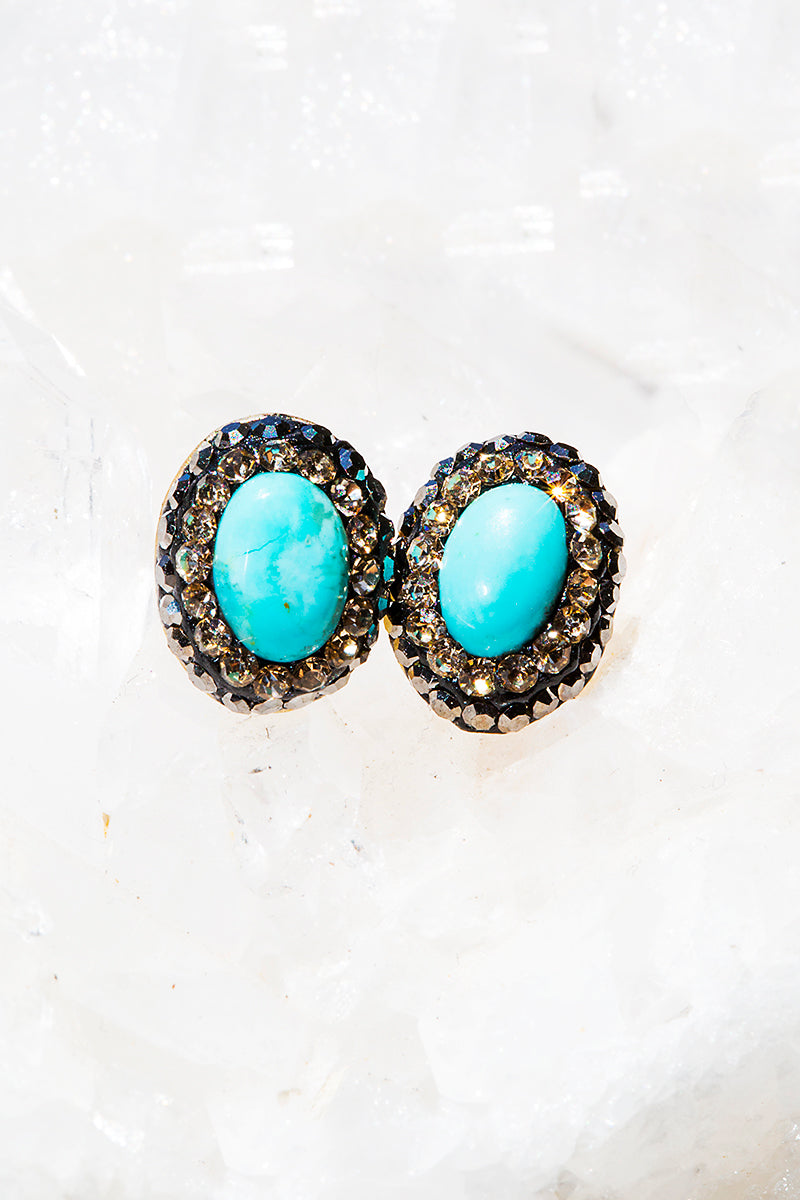 Turquoise tiny sud earrings