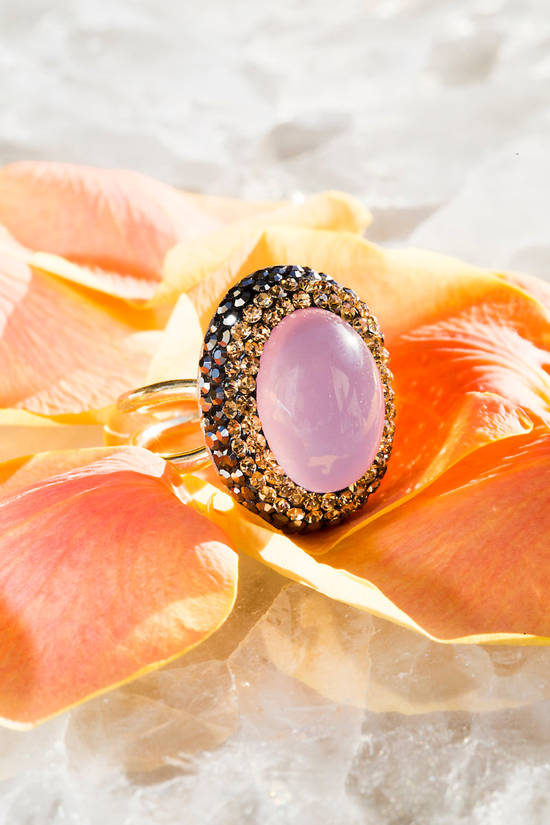 Rose quartz love ring