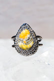 bumble bee jasper silver ring