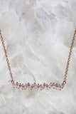 rose gold multi diamond necklace