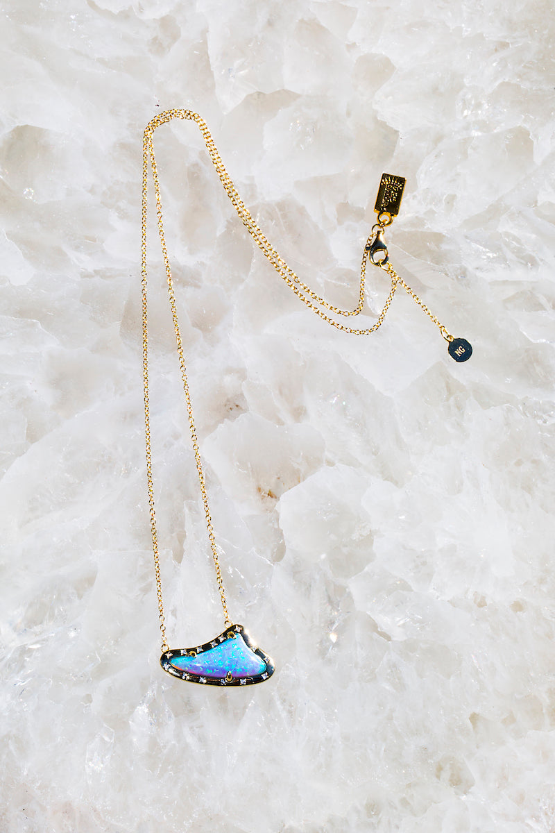 sharkstooth opal necklace
