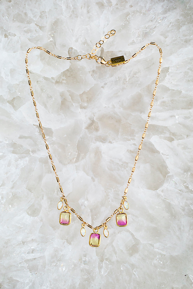 tourmaline rainbow necklace