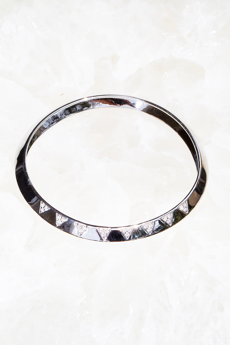 sterling silver triangle bangle