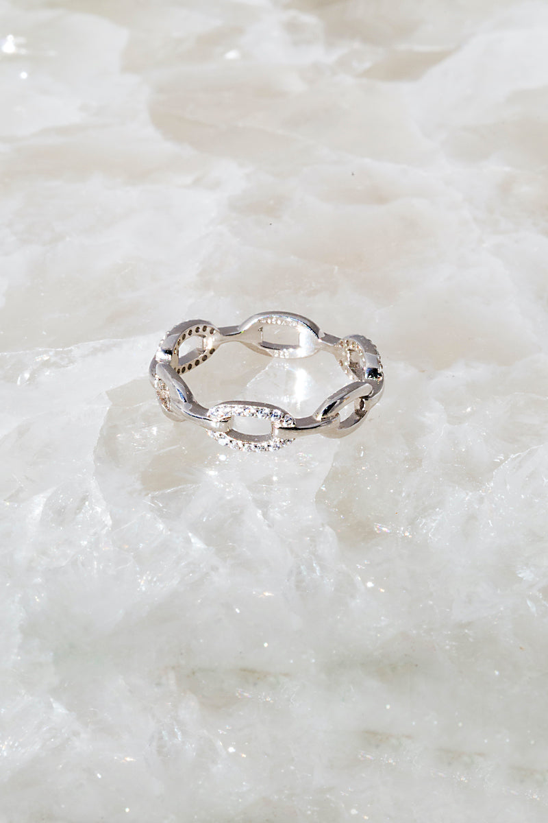 Chain link stack ring