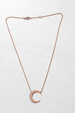 rose gold crescent necklace