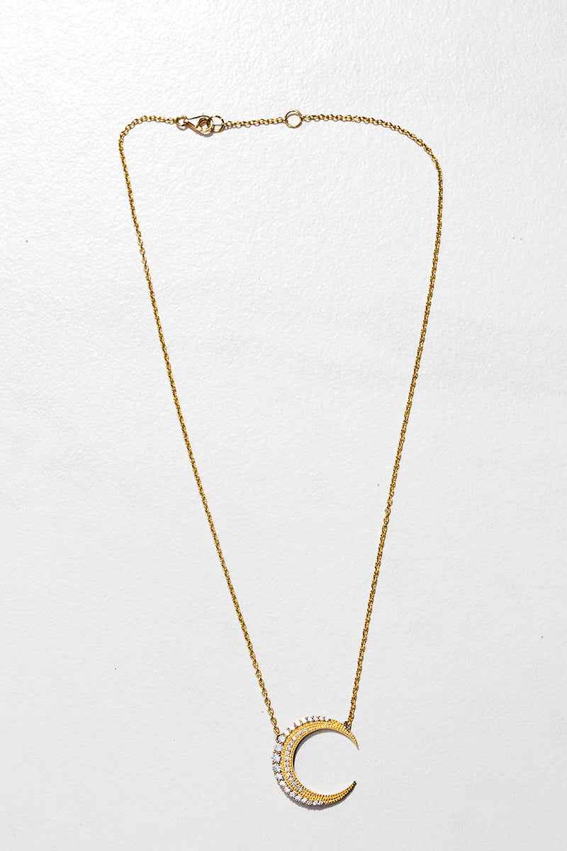 gold moon crescent necklace