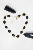 balck onyx gemstone choker necklace