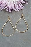 crystal wire wrap hoops
