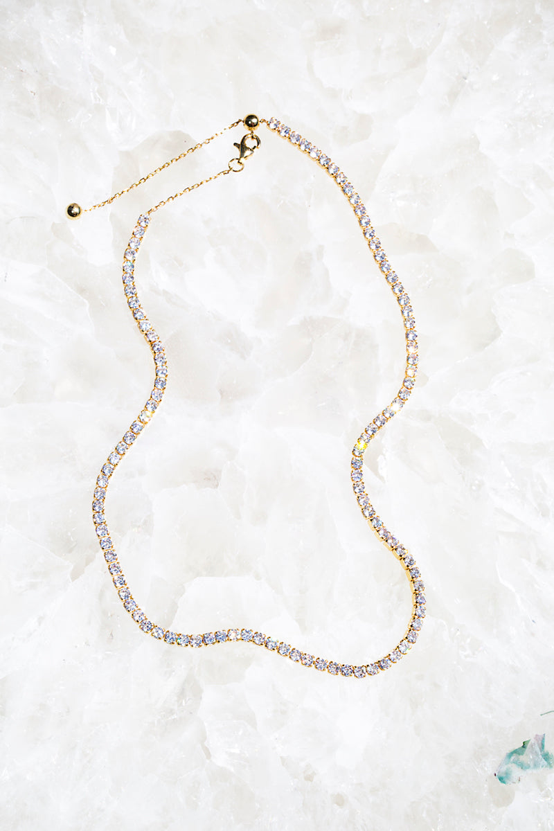 sparkling tennis necklace