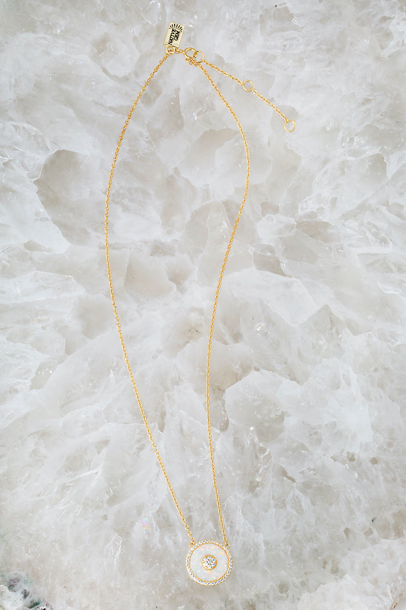 SIGNAL necklace in 14K gold vermeil