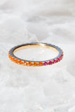 orange and pink eternity band