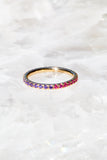 colorful purple and pink stack ring