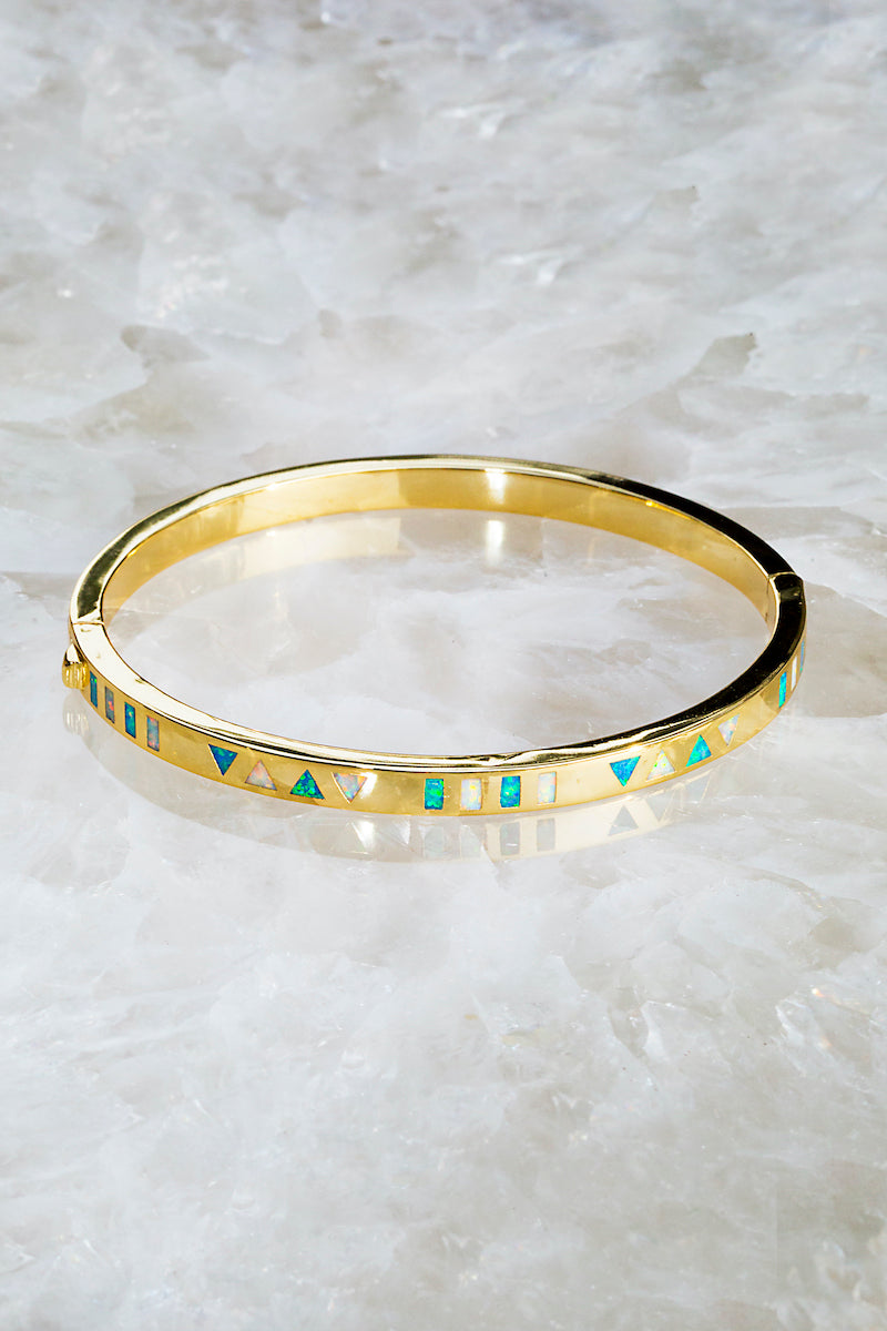 inlay opal bangle